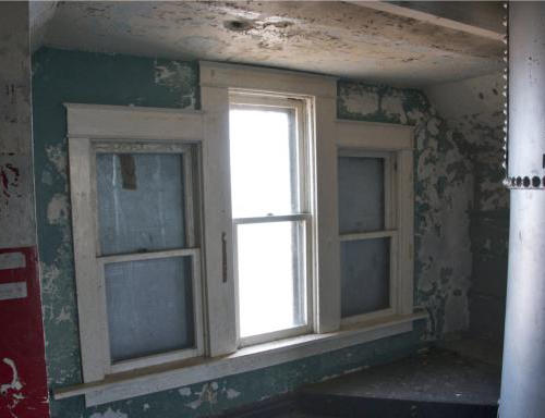 The original windows for the lighthouse